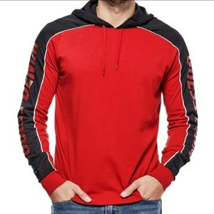 Guess Men's Red Black Hoodie Size L